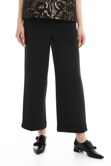 Pantaloni in cady con risvolto Diffusione Tessile