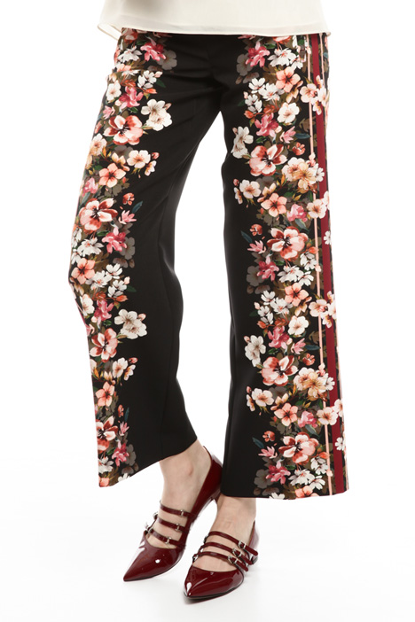 Floral patterned trousers Diffusione Tessile