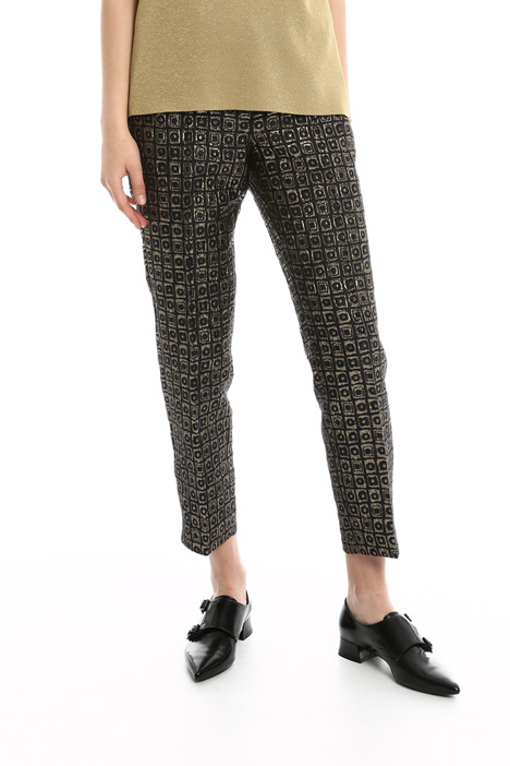 Pantaloni in jacquard lurex Diffusione Tessile