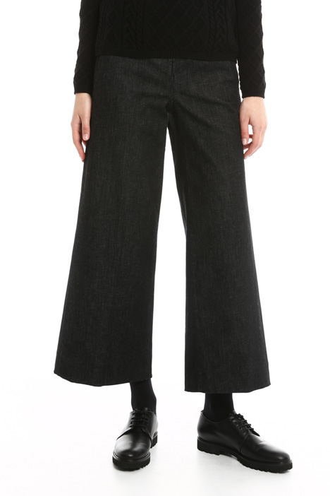 Flared denim trousers Diffusione Tessile