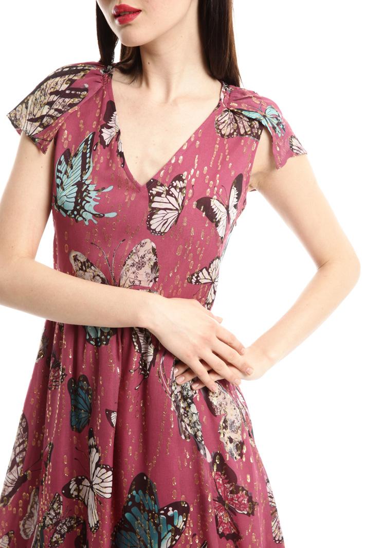 Chiffon princesse-line dress Diffusione Tessile