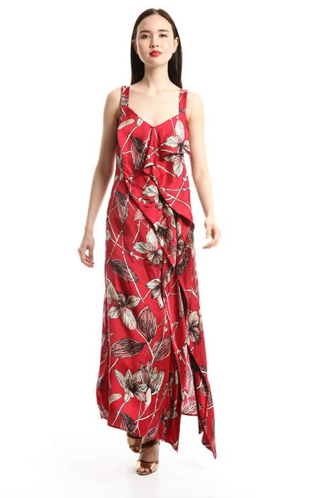 Draped twill dress Intrend
