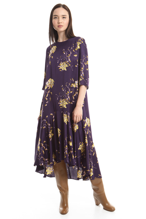 Printed satin dress Intrend