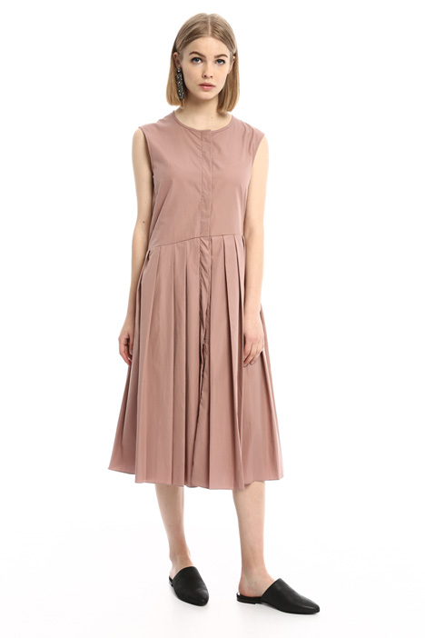 Pleated poplin dress Diffusione Tessile