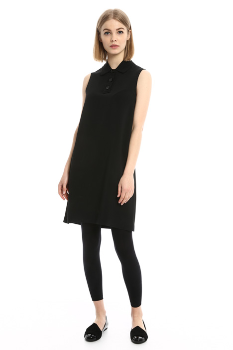 Flared dress with shirt collar Intrend