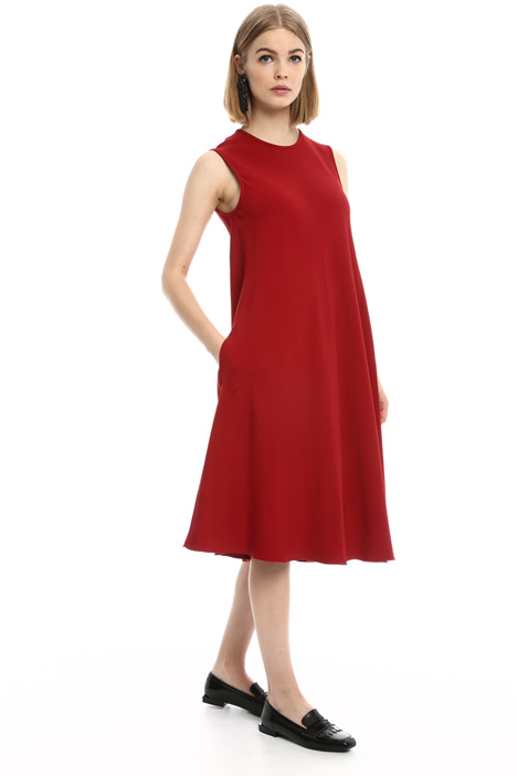 Fluid dress with pockets Diffusione Tessile