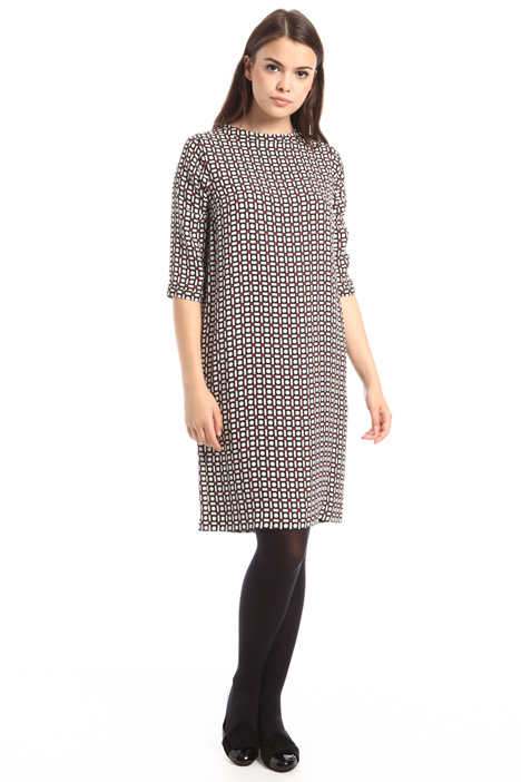 Straight cut printed dress Intrend