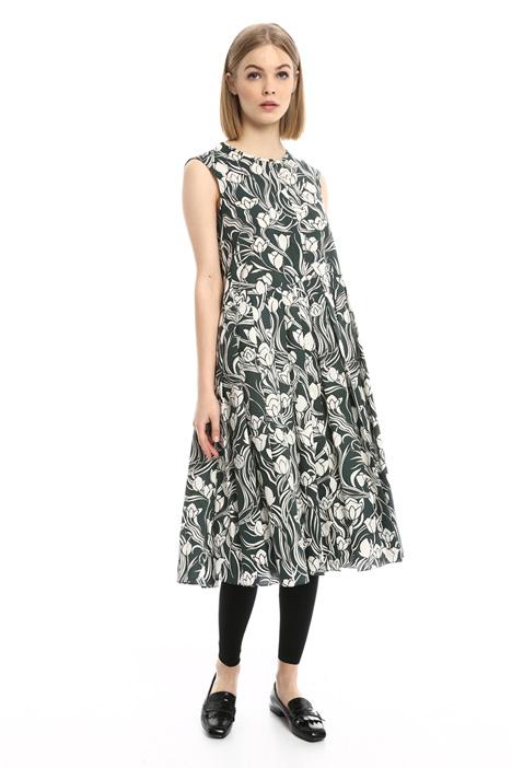 Floral poplin dress Diffusione Tessile