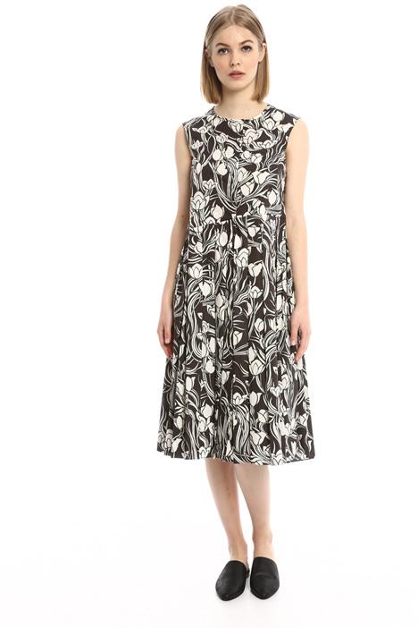 Floral poplin dress Intrend