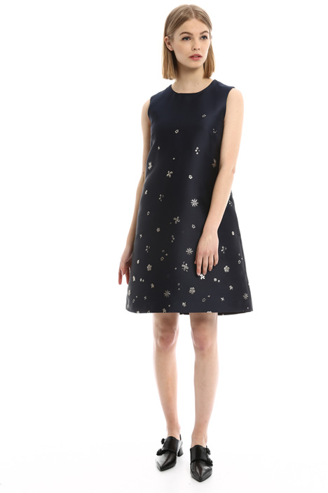 Lurex floral dress Intrend