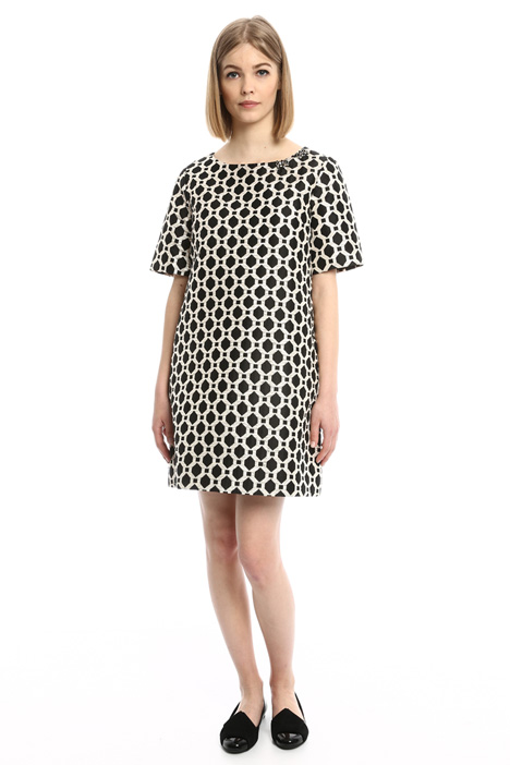 Geometric jacquard dress Diffusione Tessile