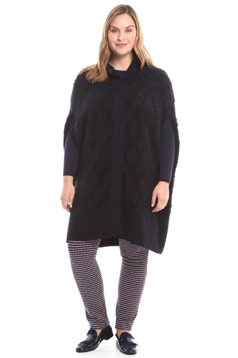 Cape coat with raised pattern Diffusione Tessile