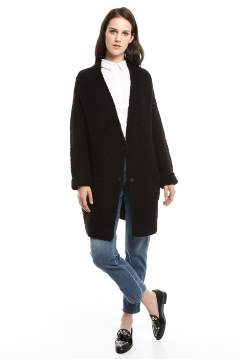 Oversized knitted coat Diffusione Tessile