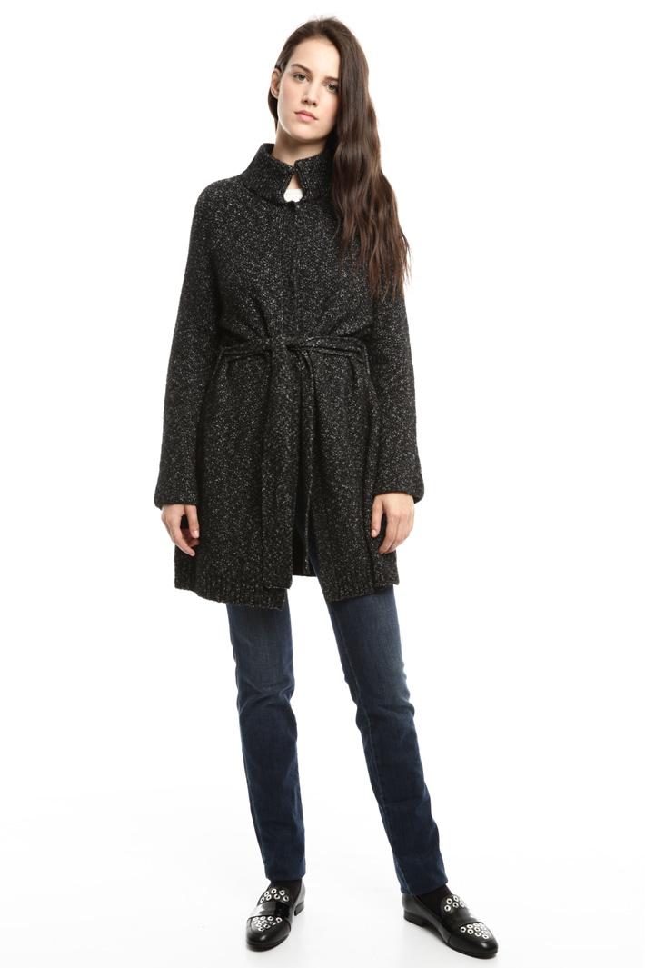 Capospalla in lana con cintura Diffusione Tessile