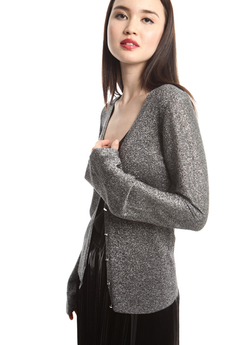 Lamé yarn cardigan Intrend