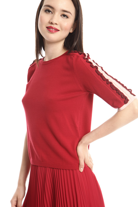 Lamé frills sweater  Intrend