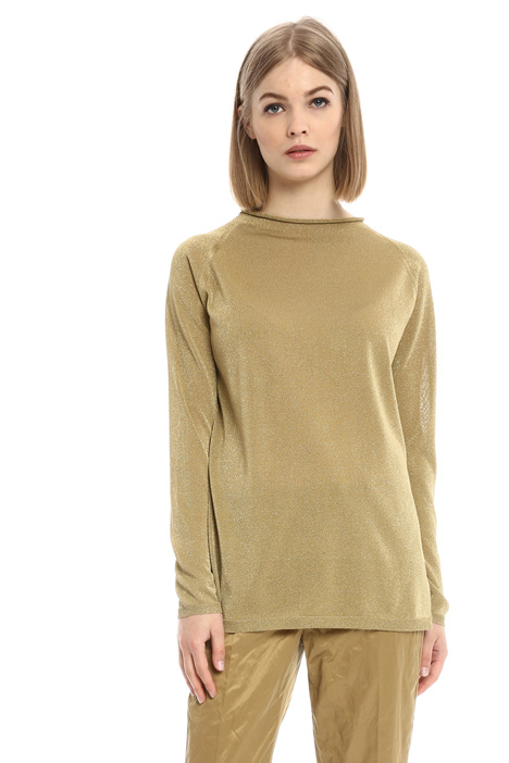 Long lurex viscose sweater Diffusione Tessile