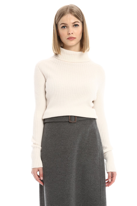 Ribbed turtleneck sweater Diffusione Tessile