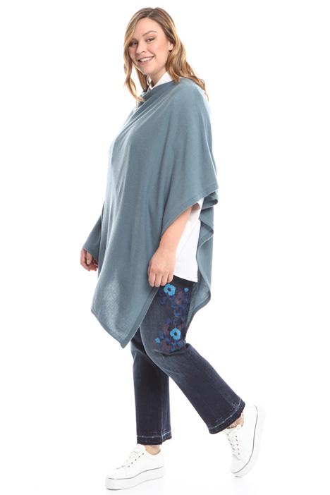 Pure cashmere poncho Diffusione Tessile