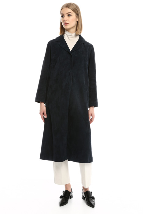 Long suede coat Diffusione Tessile