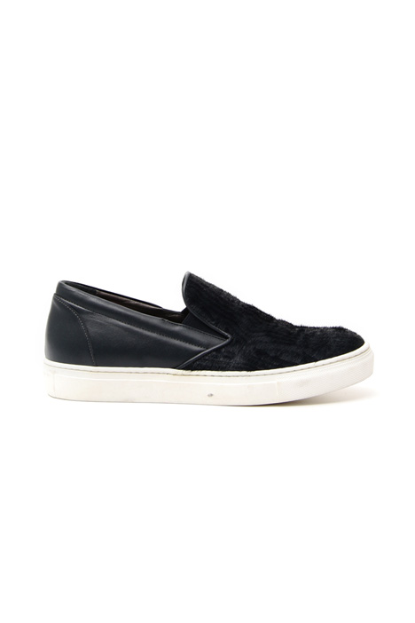 Suede and leather slip-on Diffusione Tessile