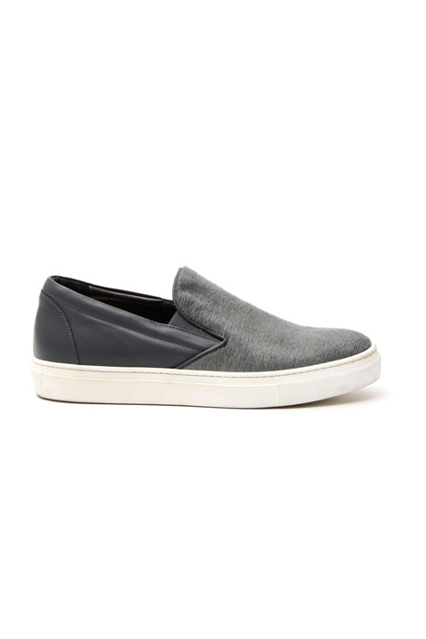 Suede and leather slip-on Intrend