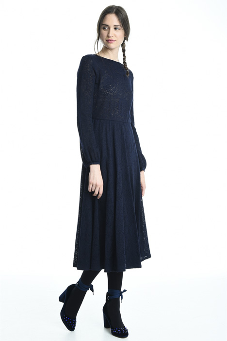 Lace-effect jersey dress Diffusione Tessile