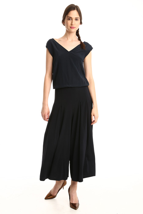 Jersey and crepe jumpsuit Diffusione Tessile
