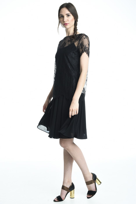 Jersey and lace dress Diffusione Tessile
