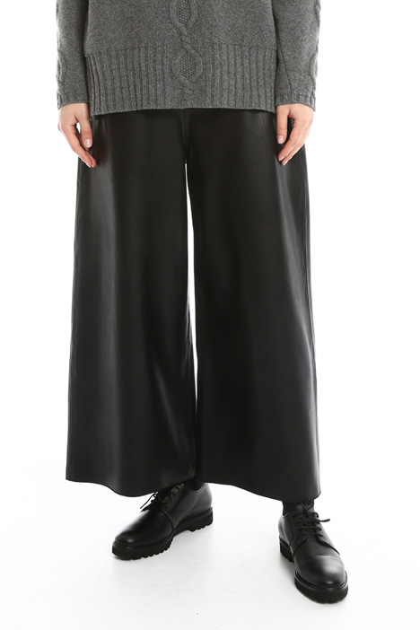 Coated palazzo trousers Diffusione Tessile