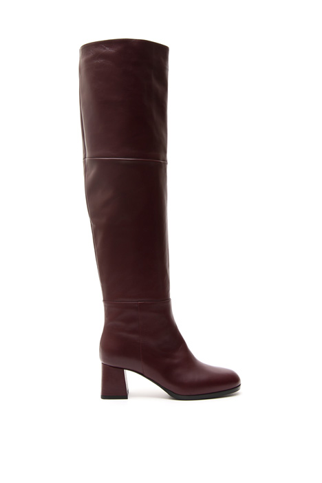 Cuissard boots in leather Diffusione Tessile
