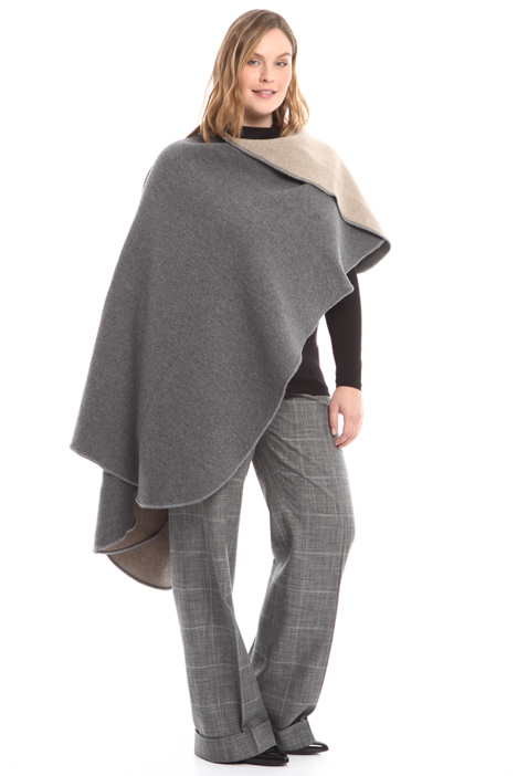 Double wool poncho Diffusione Tessile