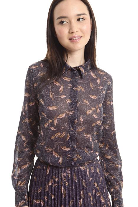 Camicia in jersey lamé Diffusione Tessile