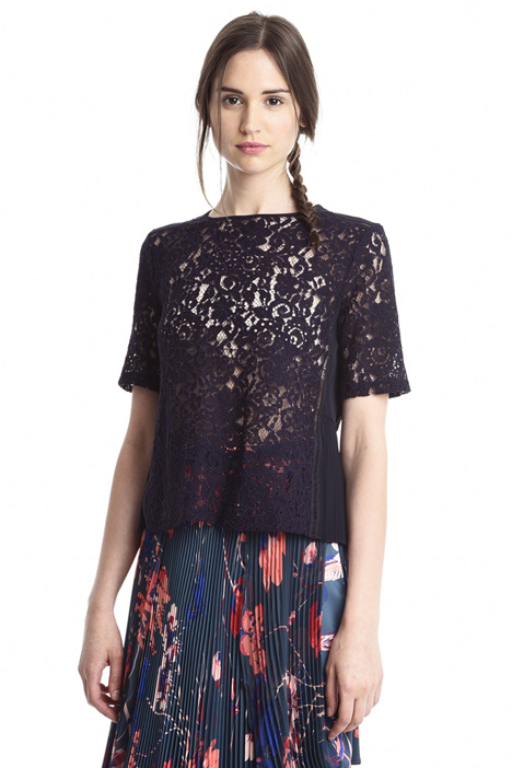 T-shirt boxy in pizzo Intrend