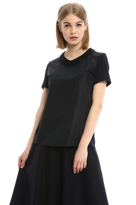 Bijou neck T-shirt Diffusione Tessile