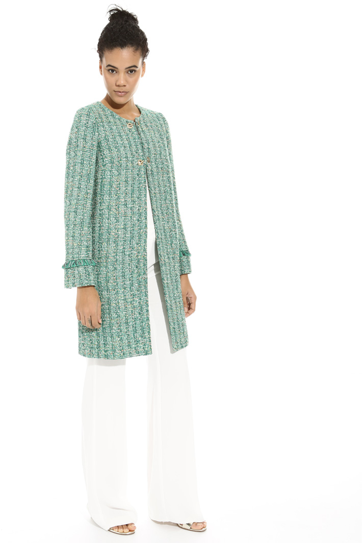 Interwoven fabric duster coat Intrend