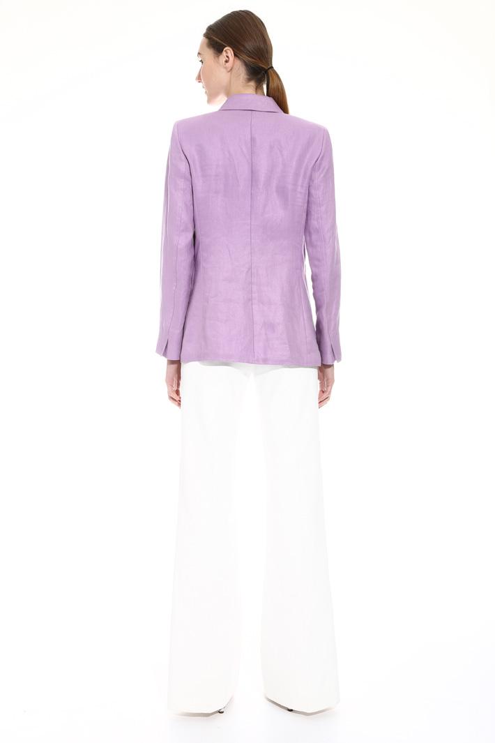 Linen double-breast jacket Intrend