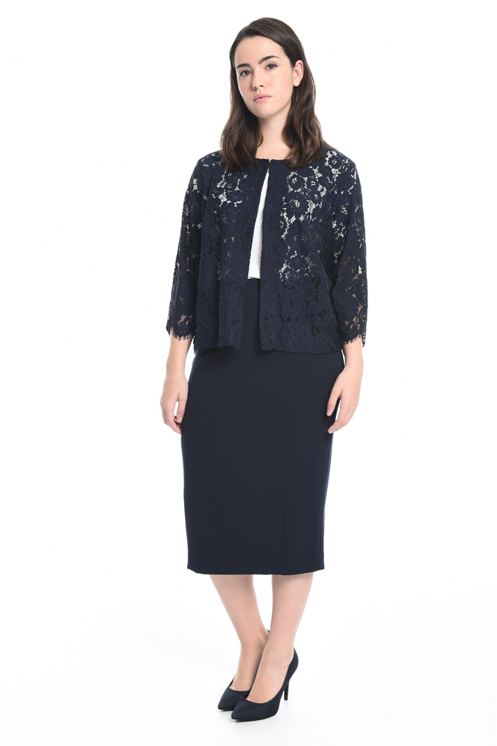 Rebrodé lace jacket Diffusione Tessile
