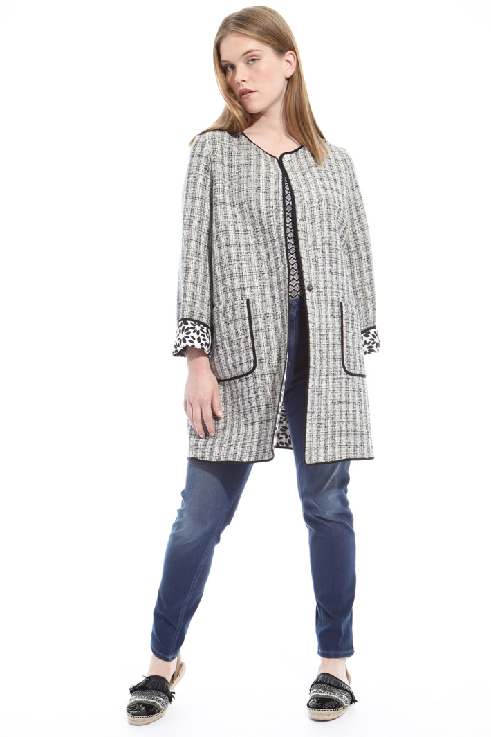 Interwoven duster coat Diffusione Tessile