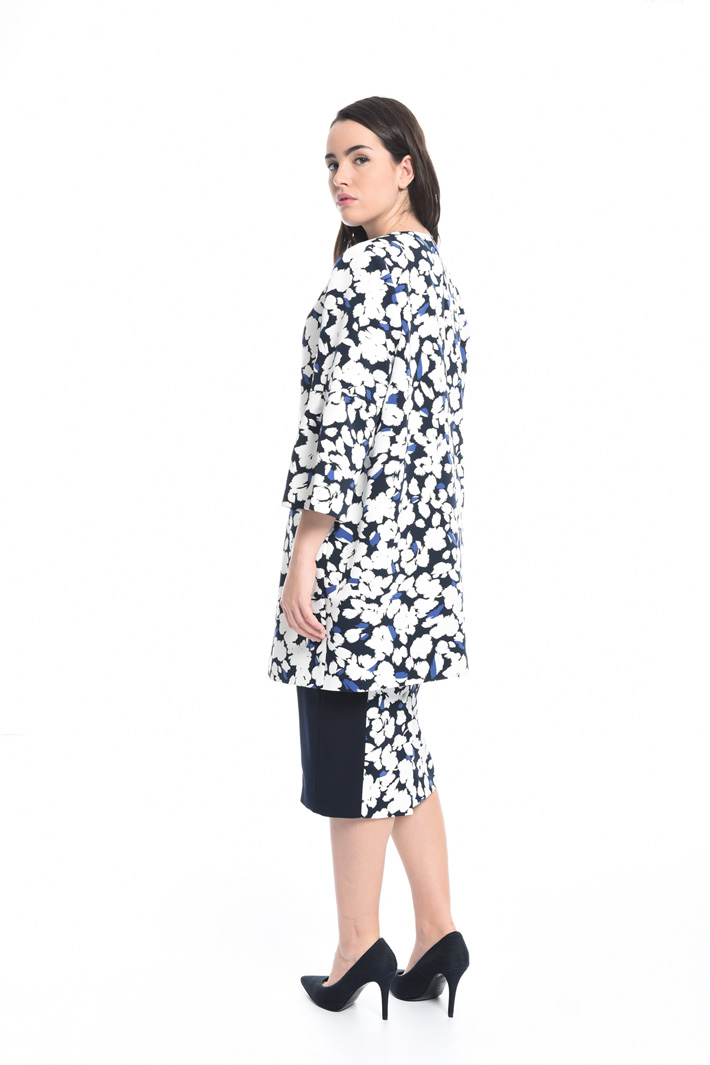 Printed cady duster coat Intrend