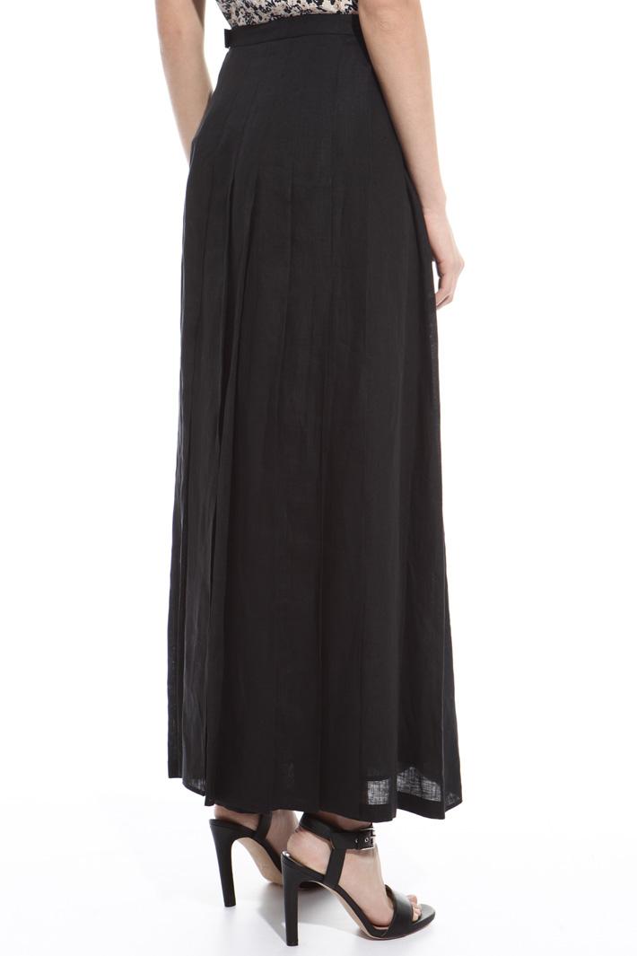 Pleated linen skirt Intrend