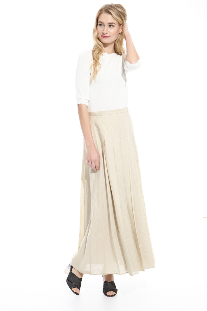Pleated linen skirt Intrend