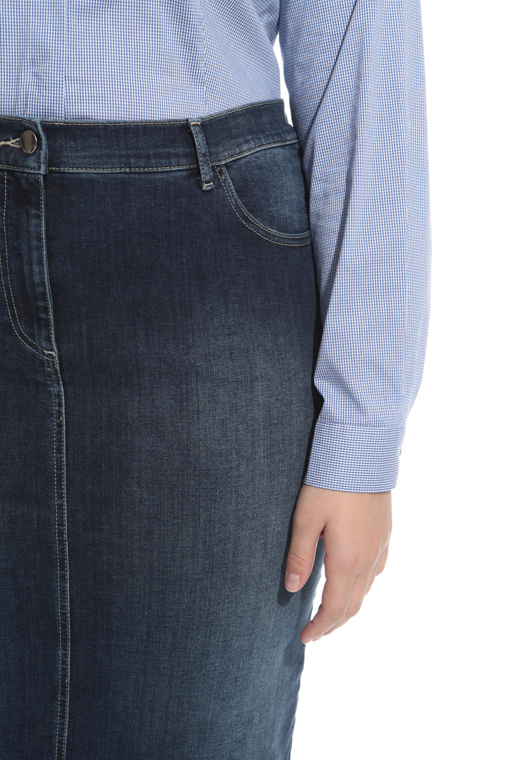 Fitted denim skirt Diffusione Tessile