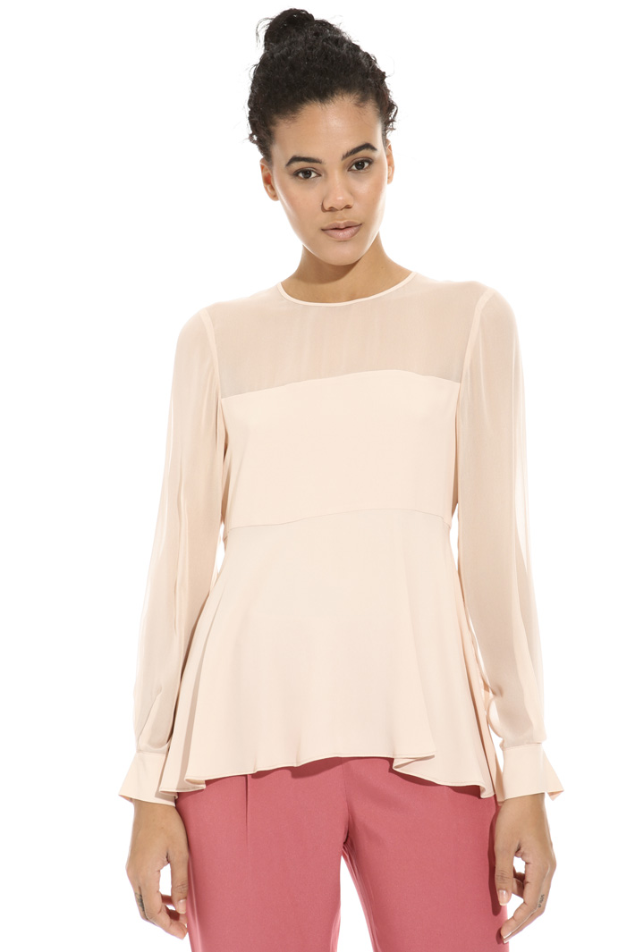 Crepe and georgette shirt Intrend