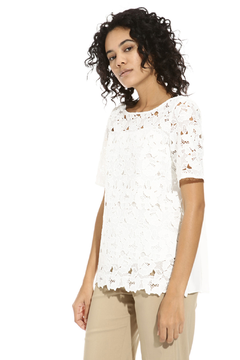Crepe and macramé tunic Intrend