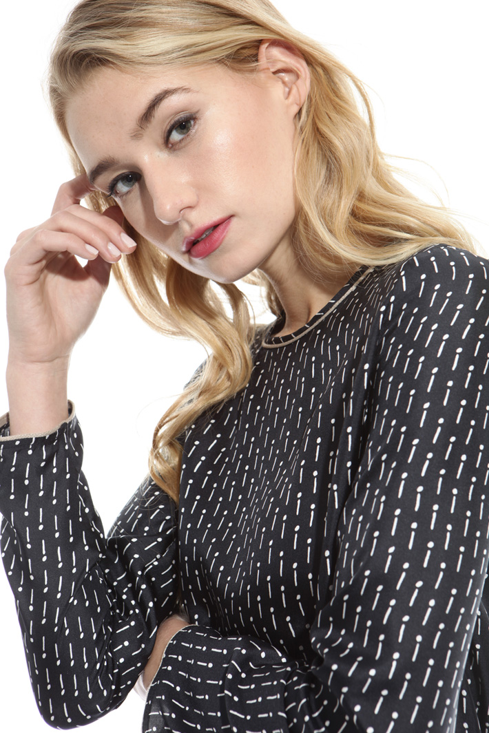 Printed twill blouse Diffusione Tessile