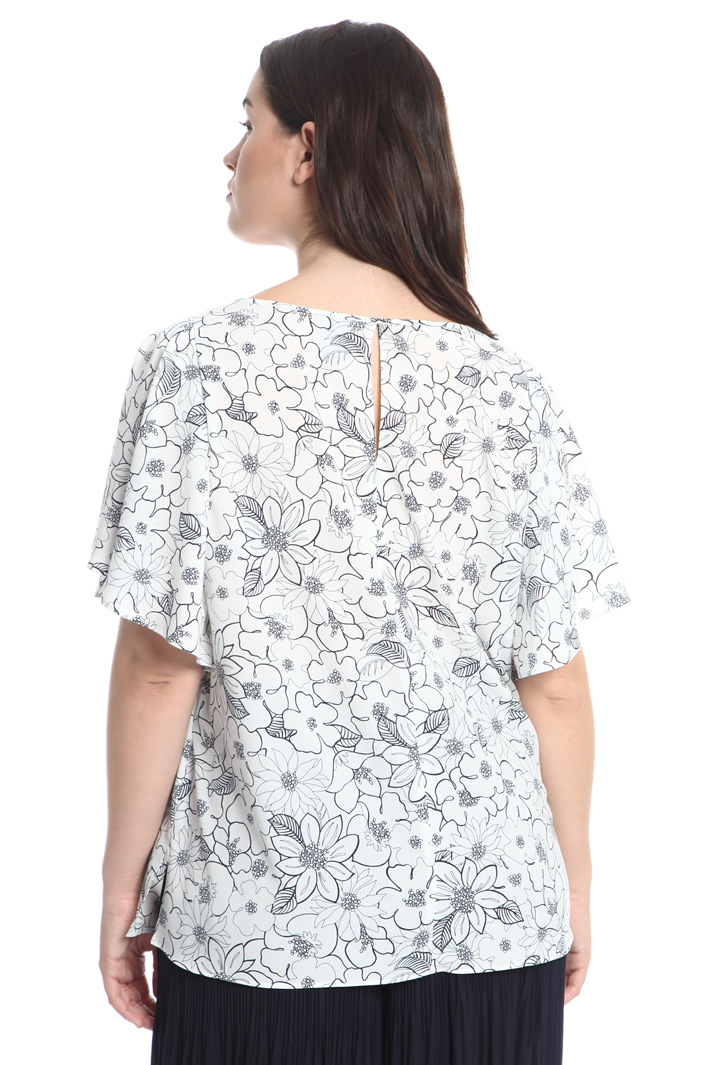 Boxy fit crepe top Intrend