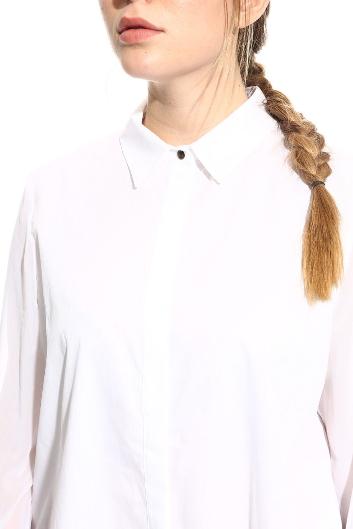 Cotton and georgette shirt Intrend