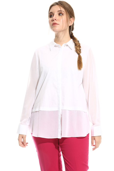 Cotton and georgette shirt Diffusione Tessile