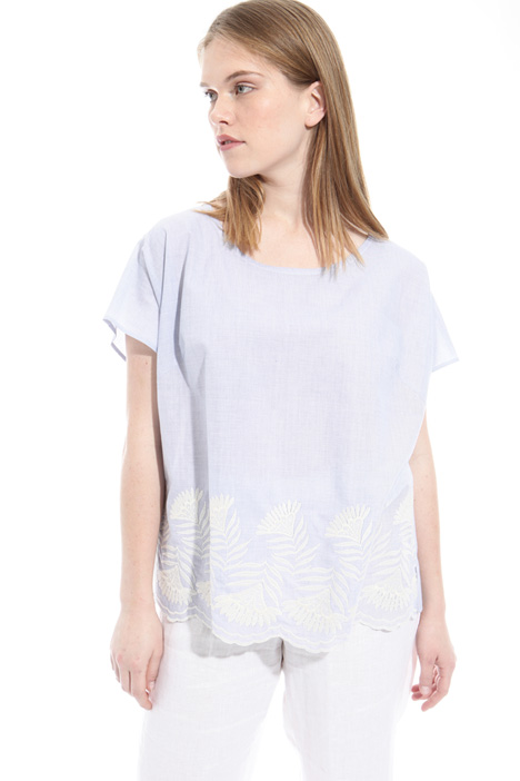 Embroidered cotton top Diffusione Tessile